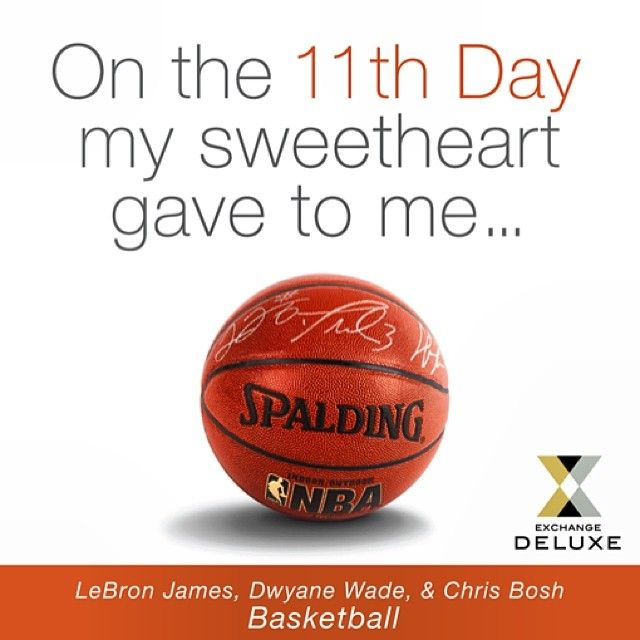 Amazing Basketball Signed By LeBron, Wade, And Bosh! Perfect Gift For The  Miami