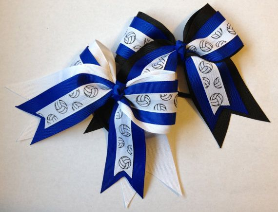Small Volleyball Hair Bow by BasketOBows on Etsy, $6.00