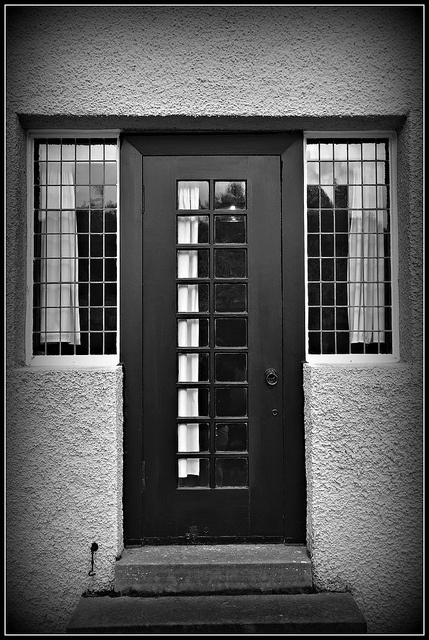 Back Door of Hill House, designed by Charles Rennie Mackintosh. Love Mackintosh!