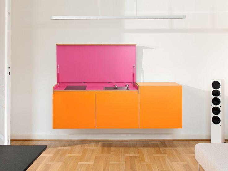 Modular plywood mini kitchen miniki by miniki design tobias schwarzer