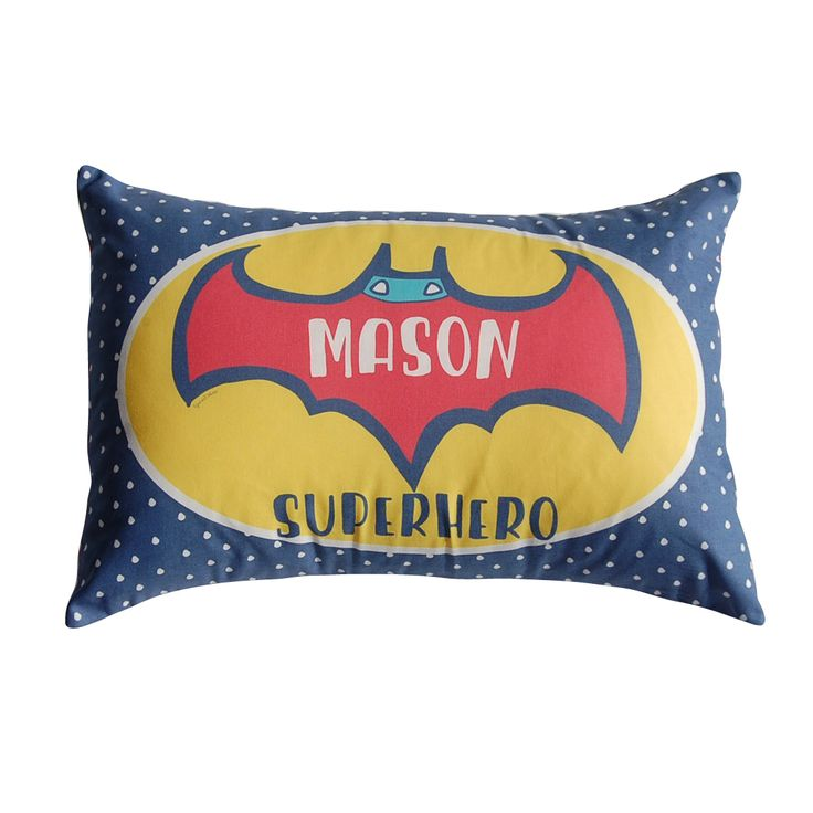 Batman Inspired Personalised Cushion