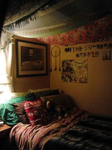 Bohemian indie hipster cozy teen bedroom