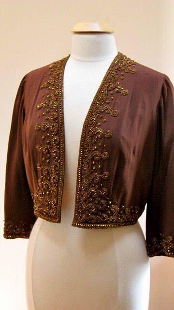 Vintage Jacket Bergdorf Goodman 1950s Beaded great for Evening