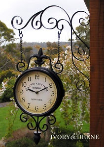 Train Station Garden Clock. We Had Something Similar To This In Our Garden,  Surrounded