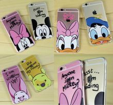 Minnie Mickey Cartoon Donald Duck Piglet Poof Bear Daisy Duck Lovers Couples case For iPhone 7Plus 7 6Plus 6 6S 5 SE 5C SAMSUN(China (Mainland))