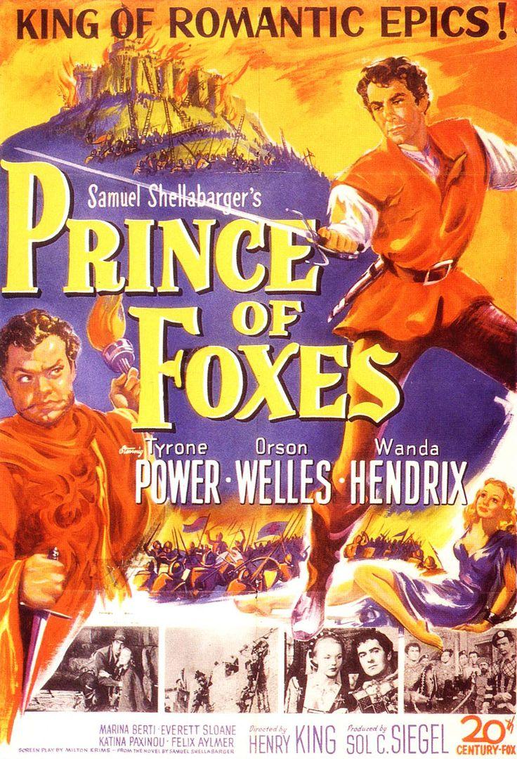 """Prince of Foxes"" (1949). Country: United States. Director: Henry King. Cast: Tyrone Power, Wanda Hendrix, Everett Sloane, Orson Welles, Katina Paxinou"