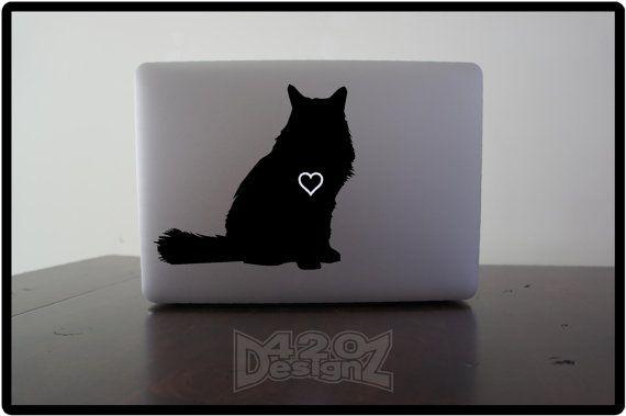 Cat  Long haired  Macbook Air Macbook Pro  Macbook by 420DesignZ, $6.99