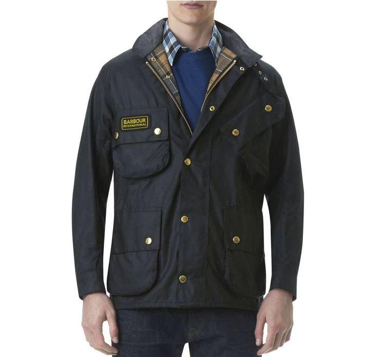 Barbour International Original Waxed Jacket Black - MWX0004BK51