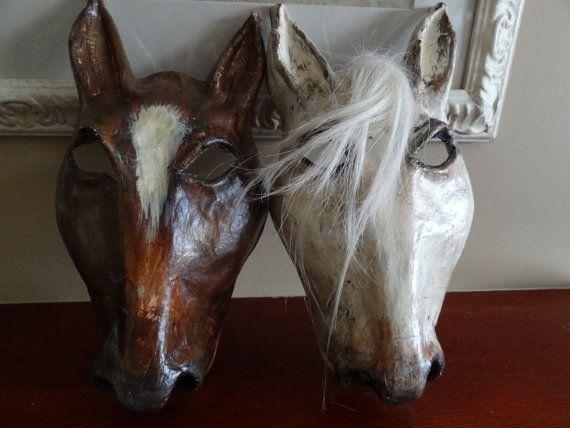 Best Friends Paper mache horse mask horse head by MiesmesaBerni, $89.00