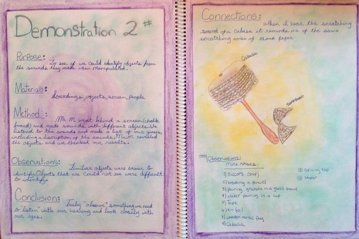 Waldorf ~ 6th grade ~ Physics ~ Acoustics ~ main lesson book