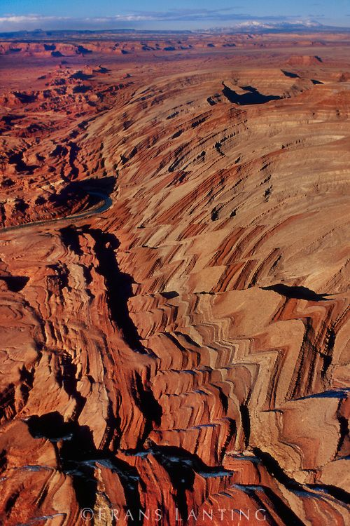 Waterpocket Fold (aerial), Capitol Reef National Park ...