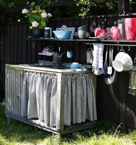 Kitchen unit in garden - Utekök runt knuten - Skonahem