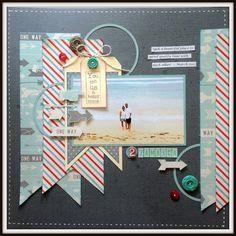 beach scrapbook page idea