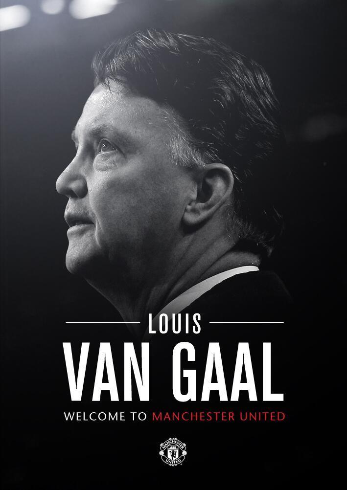 Ο προπονητής της Manchester United, Louis van Gaal #MUFC