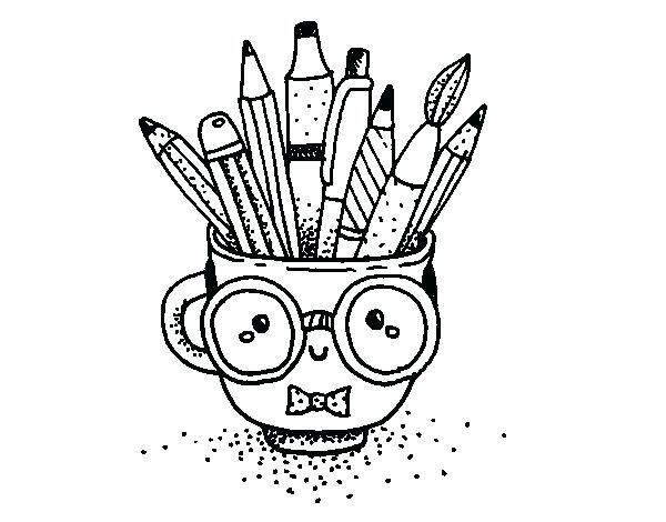 kawaii para colorear dibujo de taza animada con lapices para ...
