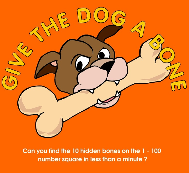 Give the Dog a Bone - Hundreds Chart Game