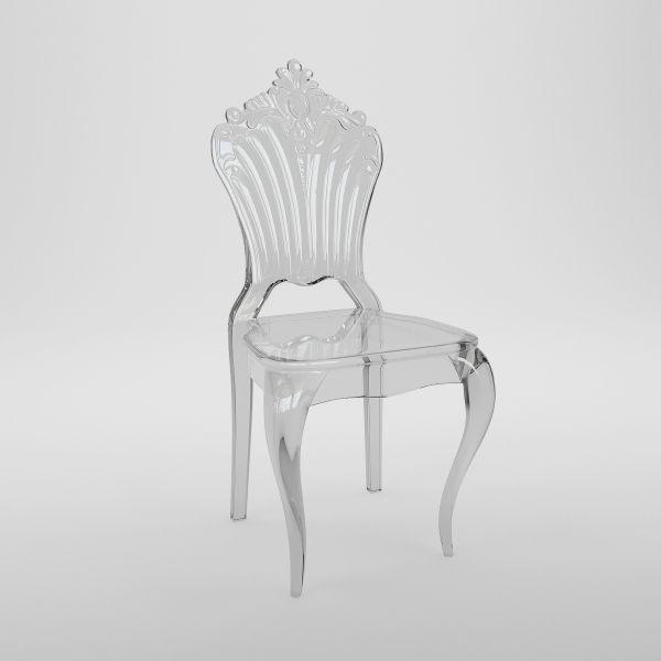 Trezzini Crystal Chair - дизайнерский прозрачный обеденный стул.