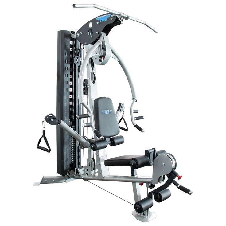 PMG Personal Multi Gym 028 - Ganzkörper-Multistation  Das Personal Multi Gym PMG - 028 ermöglicht über 25 fundamentalen Übungsvarianten und ist somit eine vielseitige Ganzkörper-Multistation. Die hochwertige komfortable Verarbeitung mit erstklassiger Biomechanik gewährt ein jederzeit sicheres und effektives Workout. Als Besonderheit bietet dieses Multi-Gym zwei integrierte individuell einstellbare Seilzugarme (duales Free Motion Zug-System), welches eine Vielzahl an freien, dualen und…
