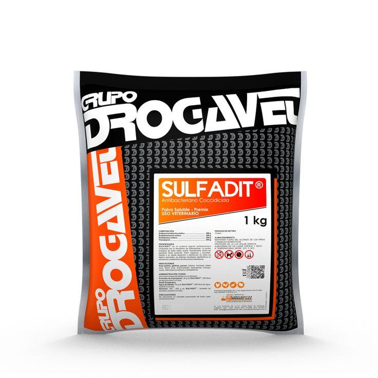 SULFADIT ® es un potente agente antibacteriano compuesto por la asociación de sulfonamidas. La acción sinérgica de estas sulfas actúan directamente contra las bacterias Gram positivas, Gram negativas y coccidias.