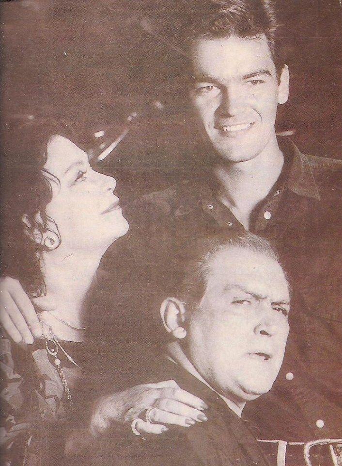 Η Τζένη Καρέζη, ο Κώστας Καζάκος και ο Κωνσταντίνος Καζάκος