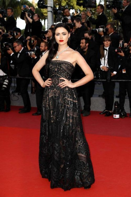 Kristina Bazan at Cannes Film Festival 2017 : Kristina went with a black strapless, embroidered Elie Saab gown with matching shoes and Chopard jewelry. Side-wept hairstyle and red lips completed her look. Nothing really outstanding, she looked...