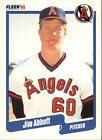 1990 Fleer Jim Abbott #125 Baseball Card Value Price Guide