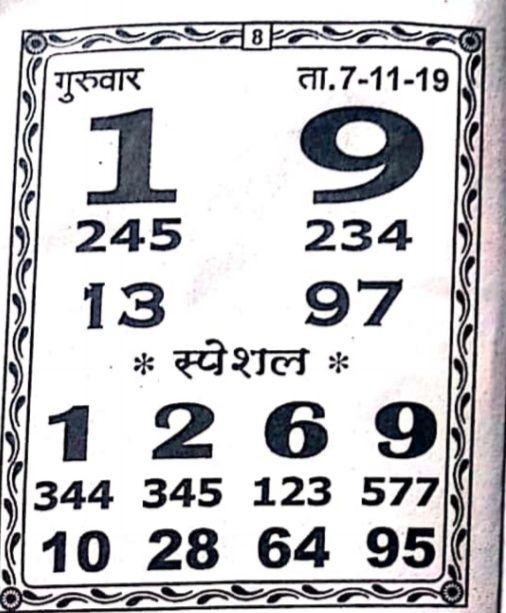Kalyan matka chart   Chart