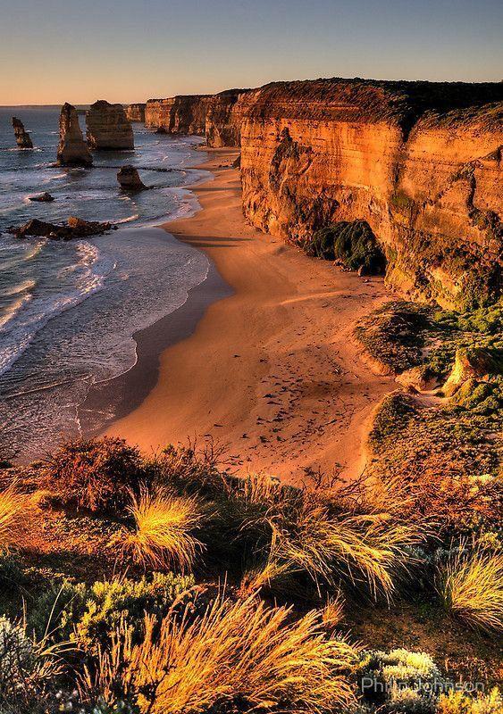At the Great Ocean Road in Australia.