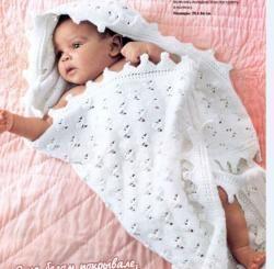 Схема вязания: Детский плед | Пледы спицами - petelka.net