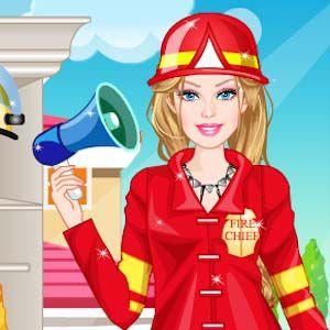 Barbie pompier - jocuri cu Barbie dress up