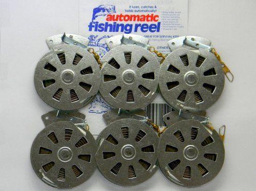 6 mechanical fisher s yo yo automatic fishing reels flat for Automatic fishing reel