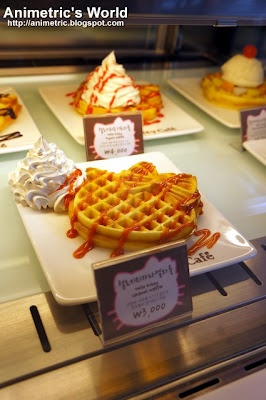Hello Kitty Caramel Waffles at Hello Kitty Cafe in Seoul, South Korea!