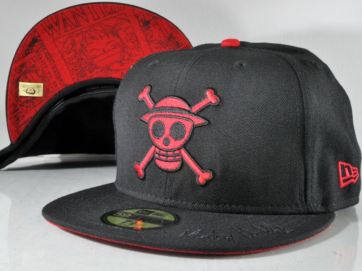 Click to view larger image  Have one to sell? Sell it yourself  ONE PIECE NEW ERA MONKEY D LUFFY RED 59FIFTY FITTED CAP