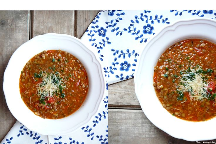 Italská čočková polévka.