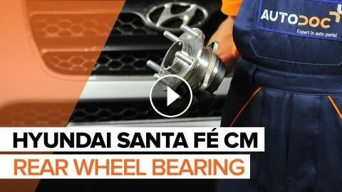 How to replace a rear wheel bearing on HYUNDAI SANTA FÉ CM [TUTORIAL]: How to replace a rear wheel bearing on HYUNDAI SANTA FÉ CM 2006,…