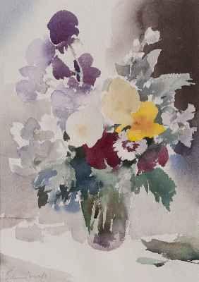 Edward Seago   Summer Flowers