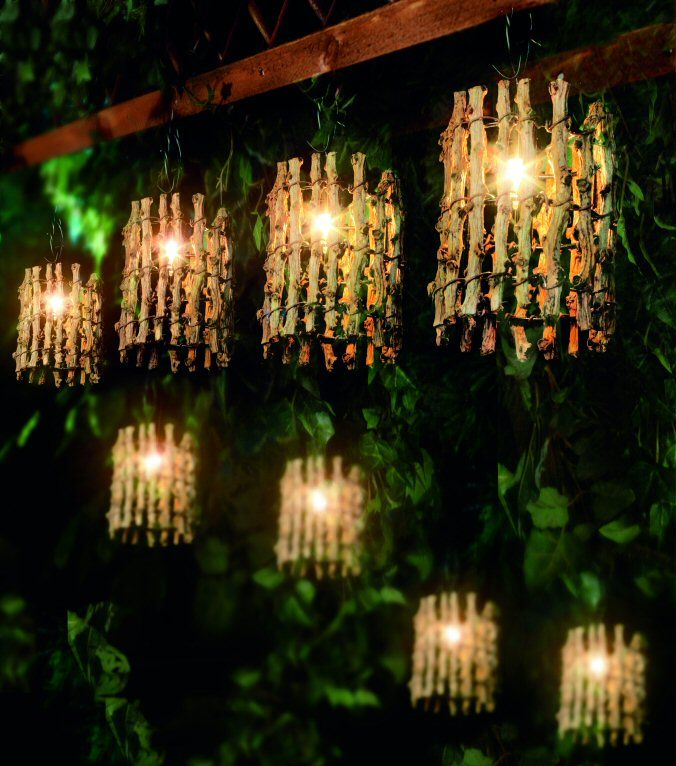 Decorative Outdoor Lighting 20 Twig Lantern Garden Lights New