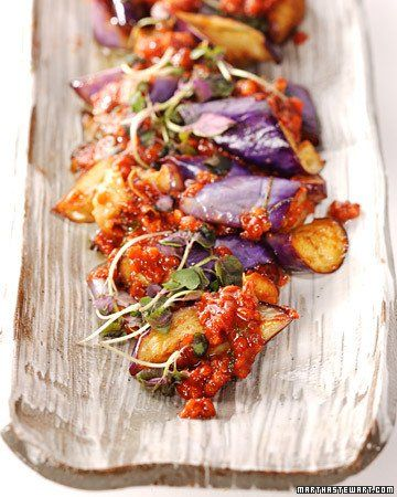This delicious Japanese eggplant recipe is courtesy of chef Matt Hoyle from restaurant Nobu 57