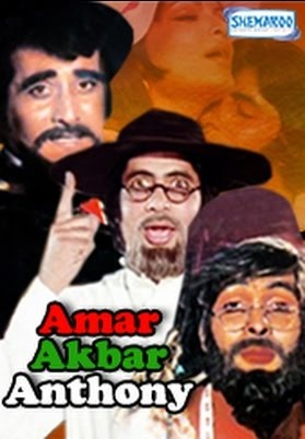 The mother of all Bollywood Films.  A story that started the trend of lost and found siblings. Amar Akbar Anthony is a movie that defines the Era of the 70s. It is the story of three brothers Vinod Khanna - Amar Rishi Kapoor - Akbar and Amitabh Bachchan as Anthony who get seperated in their childhood and are brought up under three different backgrounds. The Iconic character of the mother is played by Nirupa Roy and Pran plays the role of their father