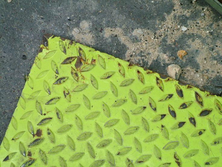 Metal plate used in roadworks