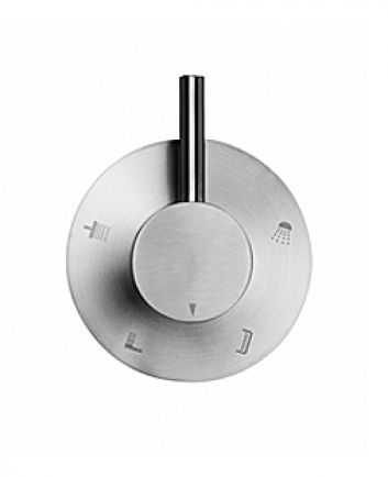 Amox concealed diverter brushed stainless steel