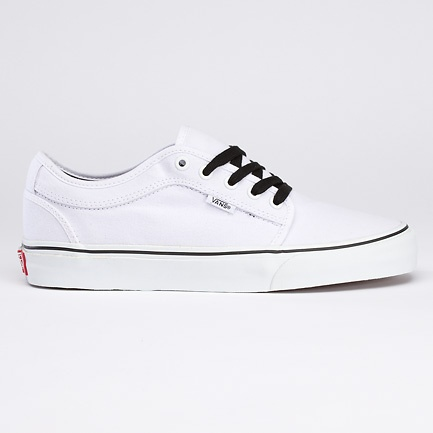 chukka low, white/white
