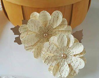Fleurs en papier - matin d'automne - Scrapbooking - carte faisant - carte Candy - papier embellissements - embellissements de fleurs - Script