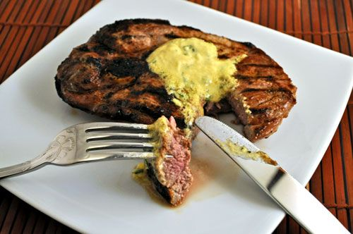 Grilled Lamb Steak with Rosemary Mustard - better than chops.... http ...