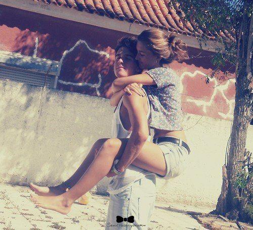 cute couple partners two girl boy love romance kiss kissing holding hug hugging