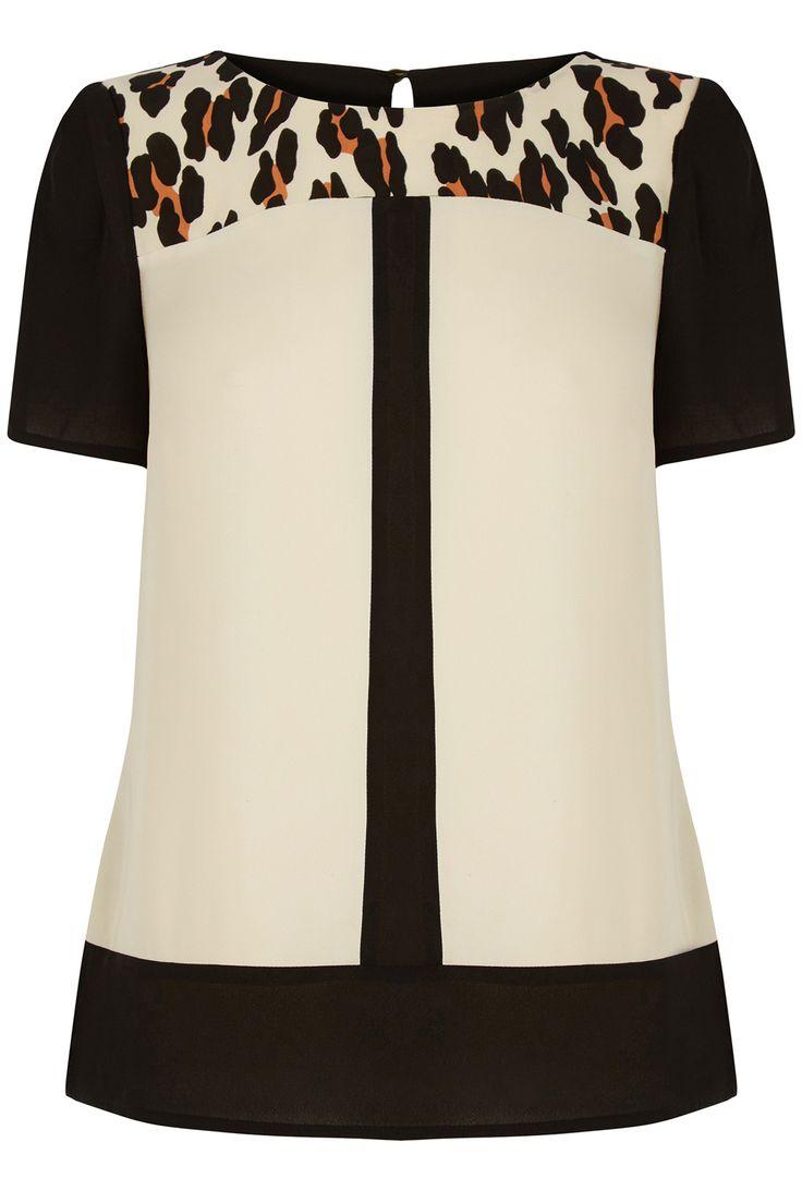 Oberteile & Blusen von Oasis online kaufen   Multi Formelles T-Shirt mit Animal-Colourblocking   Damenmode   Oasis
