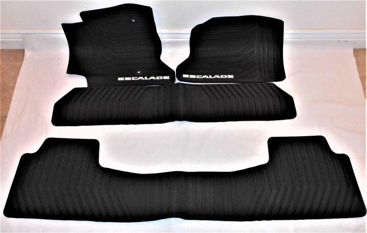 2015 to 2018 Cadillac Escalade Black Rubber Floor Mat Set GM OEM Made in USA #GeneralMotors