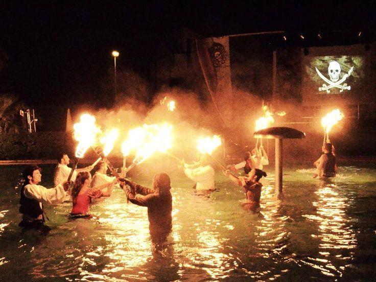 Night pool show  #Loano2Village