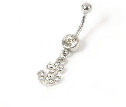 #Claire`s                 #ring                     #Bling #Anchor #Belly #Ring #Claire's               14G Bling Anchor Belly Ring | Claire's                                        http://www.seapai.com/product.aspx?PID=1856287