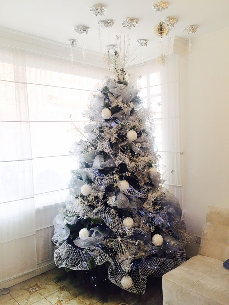 Árbol blanco Navidad